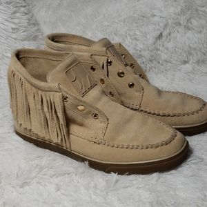 Nine West Fringed Booties, sz 8